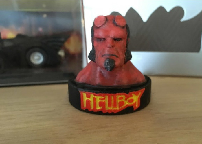 Hellboy bust with stand included 3D Print 150289