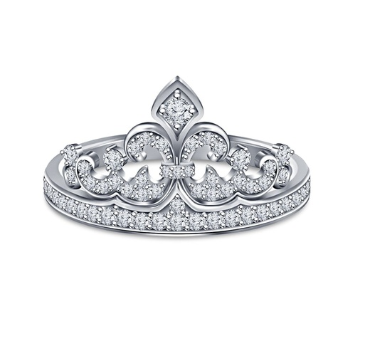 Jewelry 3D CAD Model Of Crown Ring 3D Print 150334