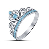 Small 3D Jewelry CAD Model Of Beautiful Crown Ring 3D Printing 150350
