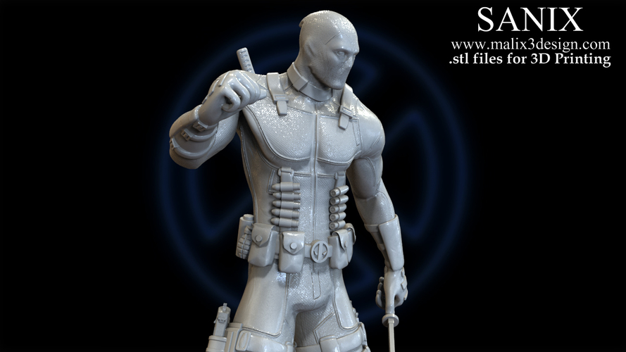 X-MEN Diorama - Deadpool / 3D model for 3D Printing  3D Print 150378