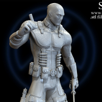 Small X-MEN Diorama - Deadpool / 3D model for 3D Printing  3D Printing 150378