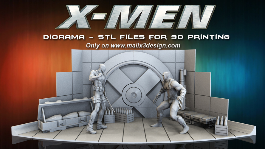 X-MEN Diorama - Deadpool / 3D model for 3D Printing  3D Print 150380