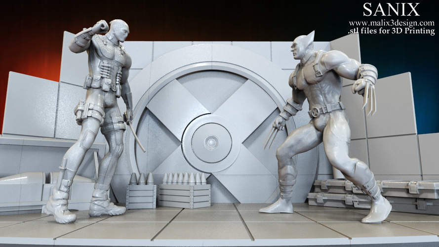 X-MEN Diorama - Deadpool / 3D model for 3D Printing  3D Print 150381