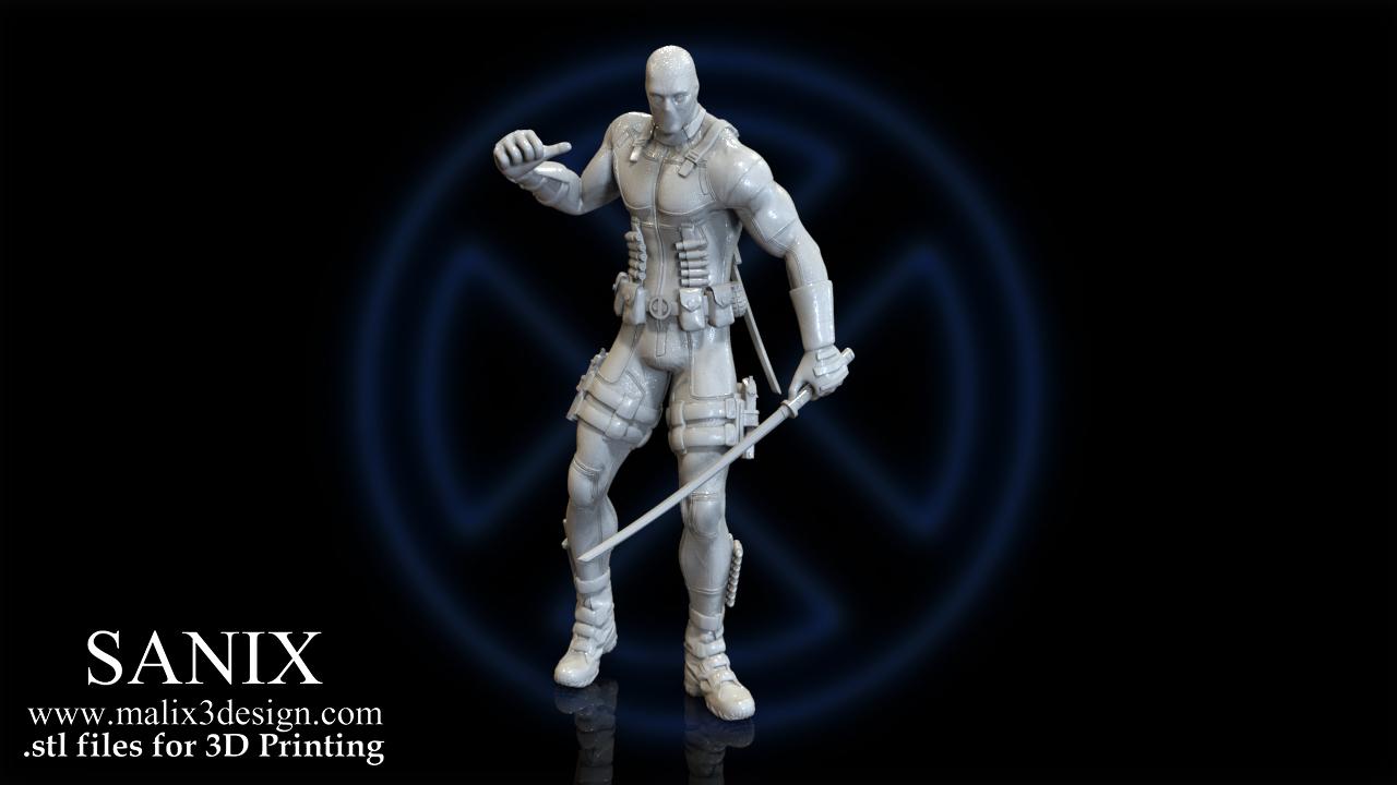 3d Printed X Men Diorama Deadpool 3d Model For 3d Printing By Sanix3 Pinshape