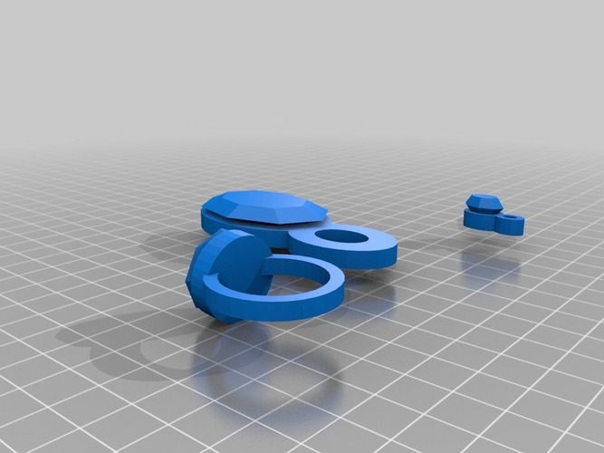 lara bracelet charm, pendant and finger ring 3D Print 15043