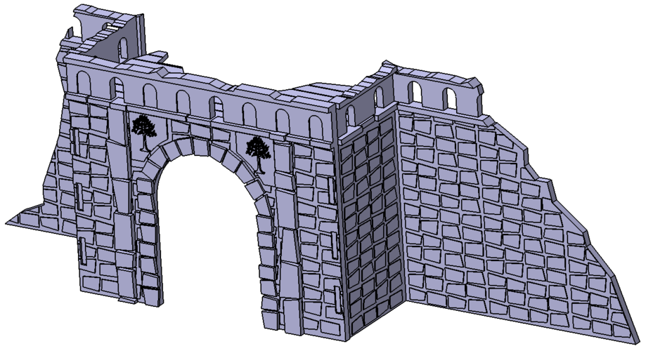 Village broken wall and door (Warhammer Scenography) 3D Print 150589