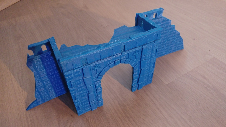 Village broken wall and door (Warhammer Scenography) 3D Print 150598