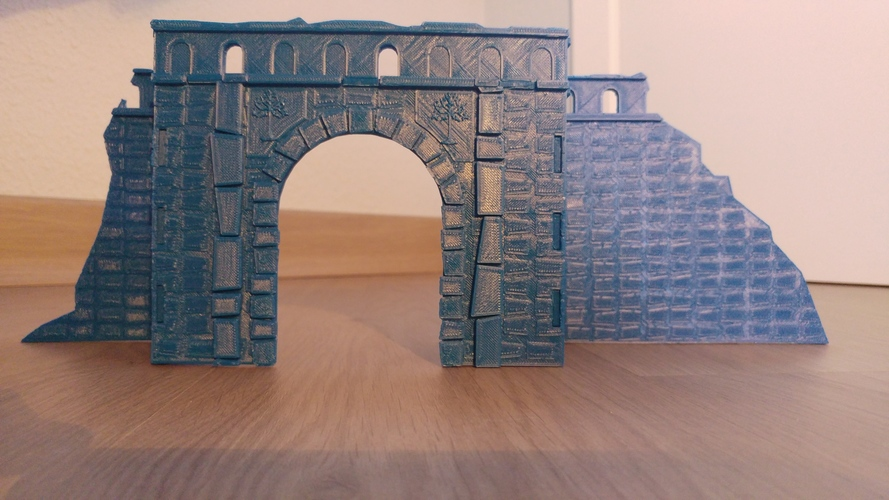 Village broken wall and door (Warhammer Scenography) 3D Print 150599