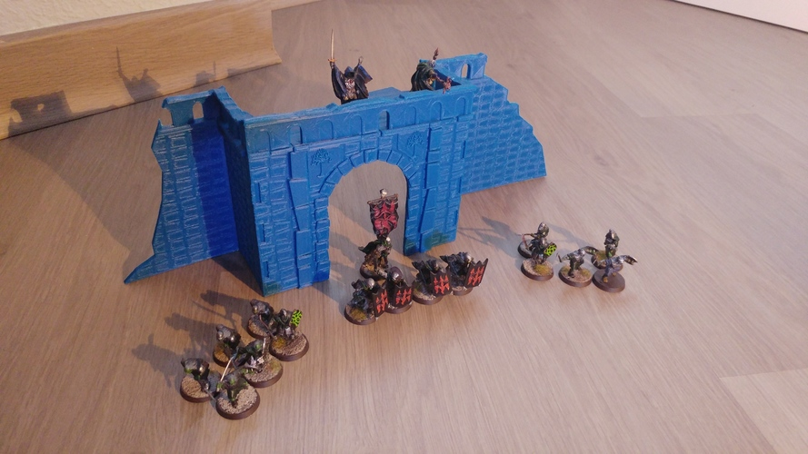 Village broken wall and door (Warhammer Scenography) 3D Print 150600