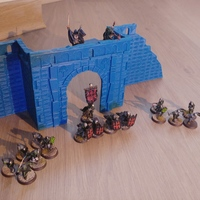 Small Village broken wall and door (Warhammer Scenography) 3D Printing 150600