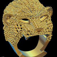 Small Lion ring 3D Printing 150642