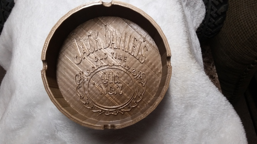 jack daniel ashtray 3D Print 150724