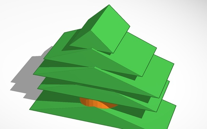 XMAS TREE NORMAL FILES + MINECRAFT FILE 3D Print 15076