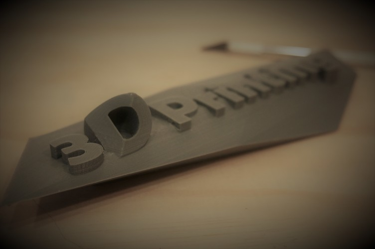 Contemporary 3D Printing Sign 3D Print 150785