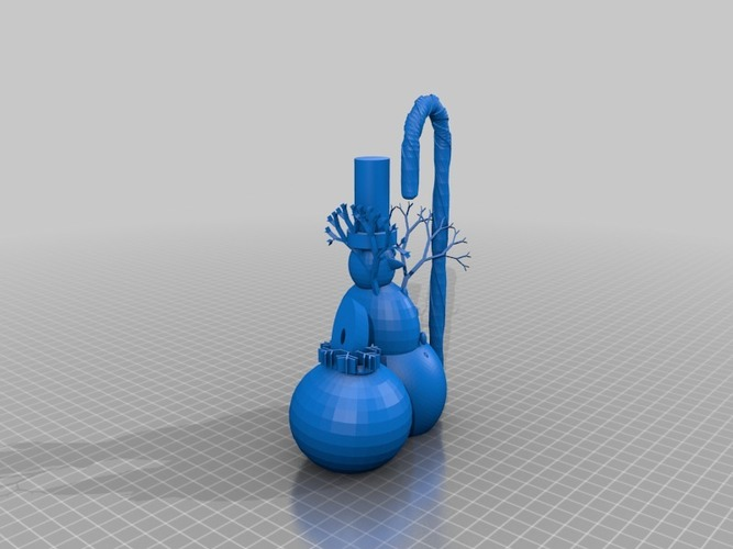 snowman with xmas ornament 3D Print 15082