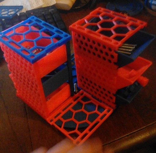 Modular Screw, Nut and Bolt Drawers on a Rotating Base 3D Print 150831