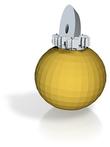 gold xmas decoration 3D Print 15085