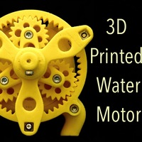Small Water Motor 3D Printing 150927
