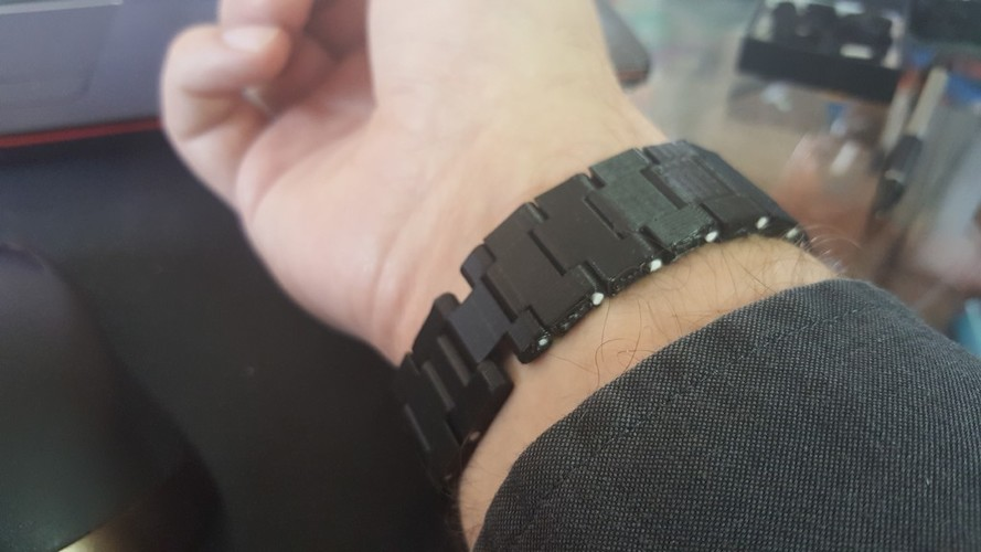 Thin watch band 3D Print 150977