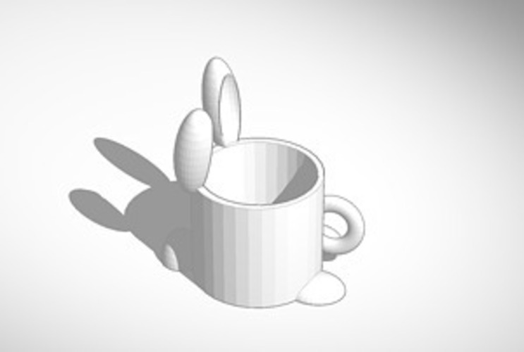 bunny full sized coffee mug 3D Print 15105