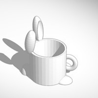 Small bunny full sized coffee mug 3D Printing 15105