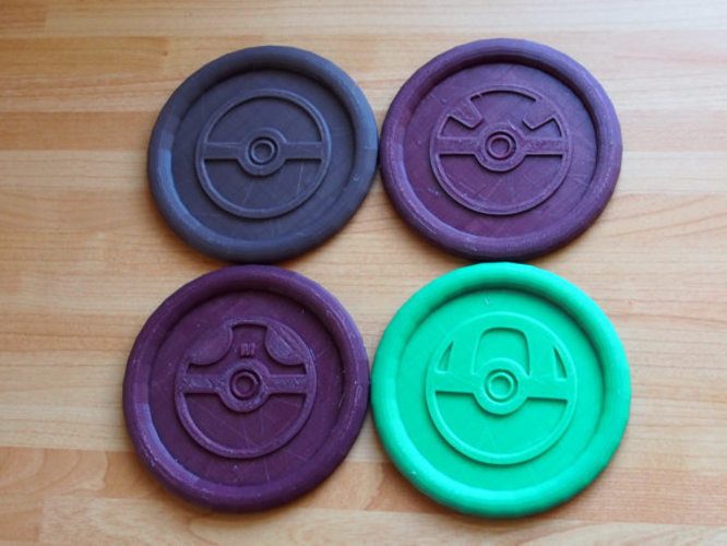 Pokemon Pokeball Coasters  3D Print 151096