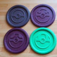 Small Pokemon Pokeball Coasters  3D Printing 151096