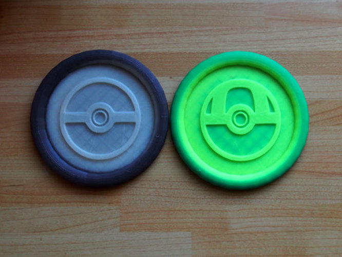 Pokemon Pokeball Coasters  3D Print 151098