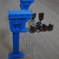 Small Broken column Gondor Scenography (Warhammer Scenography) 3D Printing 151106