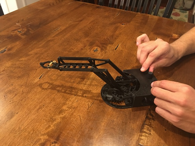 Fully Mechanical Desktop Robot Arm 3D Print 151118