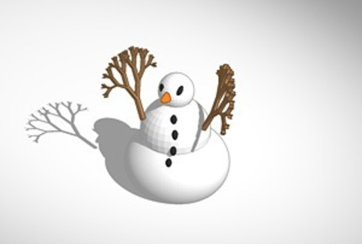 more printer friendly snowman  3D Print 15113