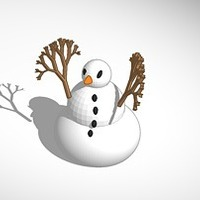 Small more printer friendly snowman  3D Printing 15113
