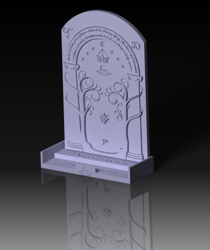 Phone Stand Moria Door 3D Print 151133