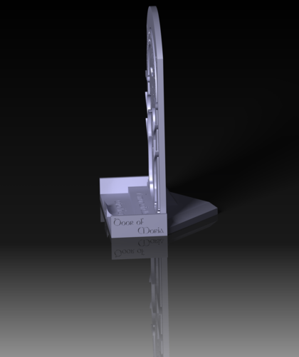 Phone Stand Moria Door 3D Print 151134