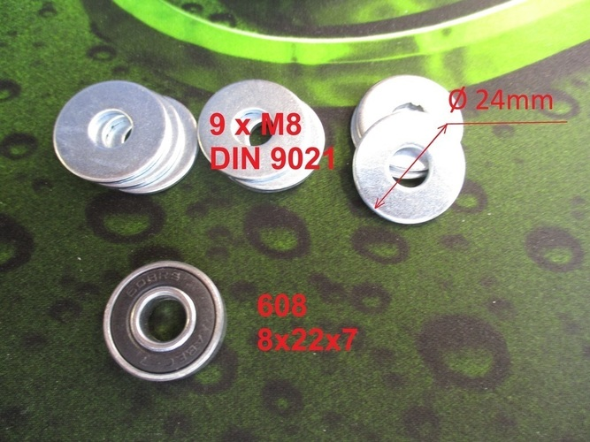 Fidget spinner with stainless steel large flat washer DIN9021 3D Print 151153