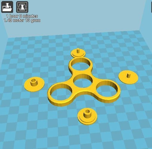 Fidget spinner with stainless steel large flat washer DIN9021 3D Print 151162