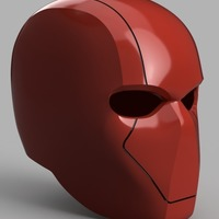 Small Red Hood Helmet (Batman) with Details 3D Printing 151192