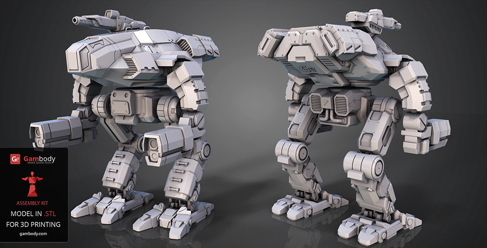 FanArt Battletech Marauder 3D Model Assembly Kit 3D Print 151199