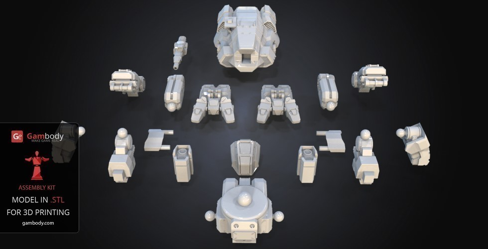 FanArt Battletech Marauder 3D Model Assembly Kit 3D Print 151200