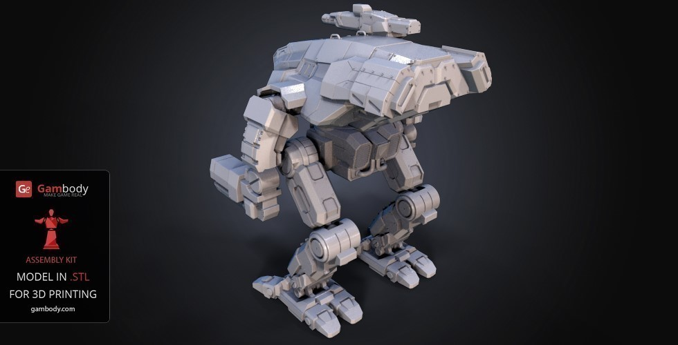 FanArt Battletech Marauder 3D Model Assembly Kit 3D Print 151201