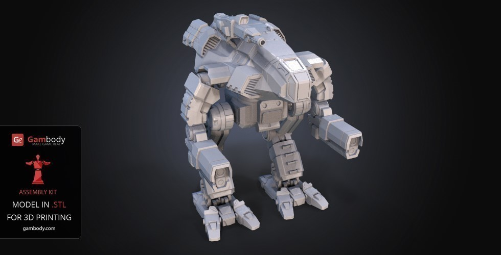 FanArt Battletech Marauder 3D Model Assembly Kit 3D Print 151202