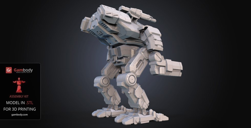 FanArt Battletech Marauder 3D Model Assembly Kit 3D Print 151203