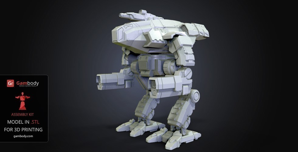 FanArt Battletech Marauder 3D Model Assembly Kit 3D Print 151205