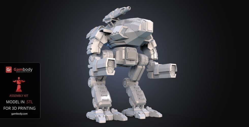 FanArt Battletech Marauder 3D Model Assembly Kit 3D Print 151206