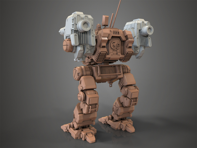 Mechwarrior Catapult Assembly Model, warfare set 3D Print 151212