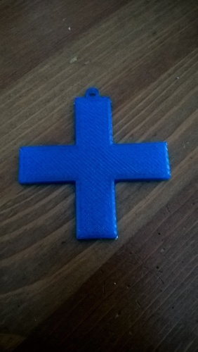 Simple Cross Keyfob / Keyring 3D Print 151281