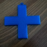 Small Simple Cross Keyfob / Keyring 3D Printing 151281