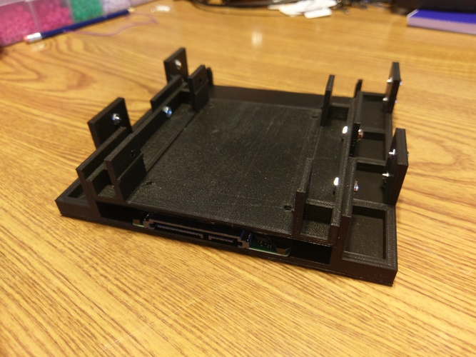 "5.25"" to 1x 3.5"" and 1x 2.5"" Drive Adapter V2 3D Print 151297"