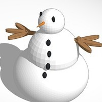 Small the snowman 3D Printing 15132