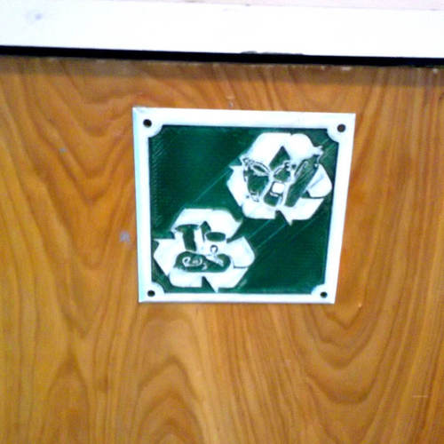 Recycle Center Labels 3D Print 151344